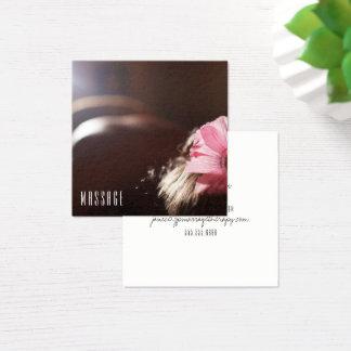 Cartões de visitas chiques da terapia da massagem