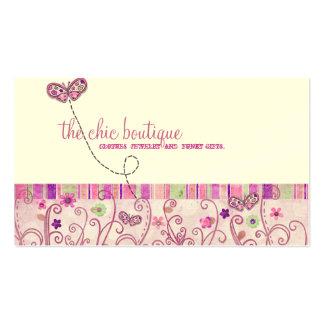 Cartões de visitas chiques do boutique