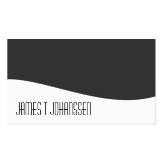 Cartões de visitas cinzentos & brancos profissiona