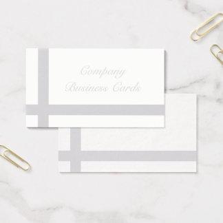 Cartões de visitas cinzentos elegantes