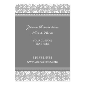 Cartões de visitas cinzentos elegantes do damasco