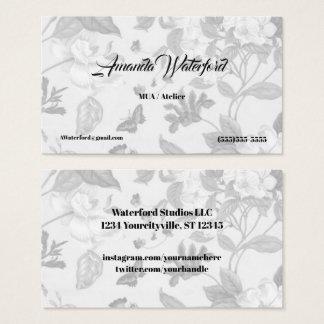 Cartões de visitas cinzentos macios de chintz do