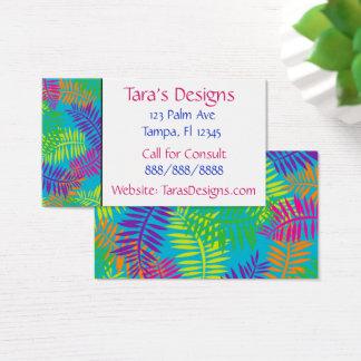 Cartões de visitas coloridos de matéria têxtil da
