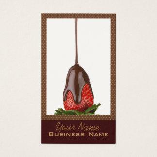 Cartões de visitas com cobertura em chocolate das