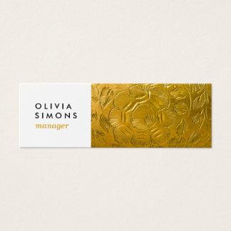 Cartões de visitas com impressão dourado do metal