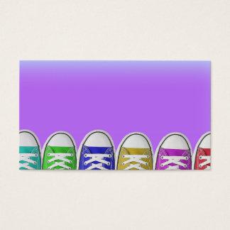 Cartões de visitas com sapatas de tênis