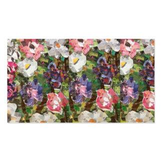 Cartões de visitas cor-de-rosa da colagem da flor