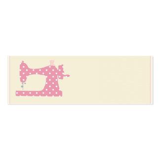 Cartões de visitas cor-de-rosa da costureira das b