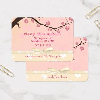 Cartões de visitas cor-de-rosa do boutique da flor