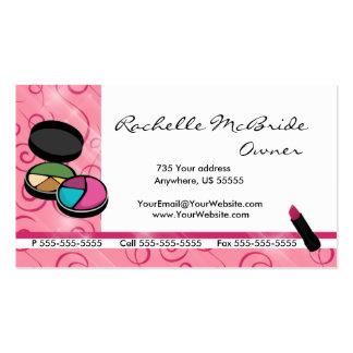 Cartões de visitas cor-de-rosa do cosmético da com