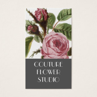 Cartões de visitas cor-de-rosa do florista do