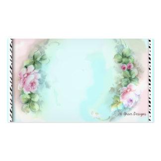 Cartões de visitas cor-de-rosa do impressão da zeb