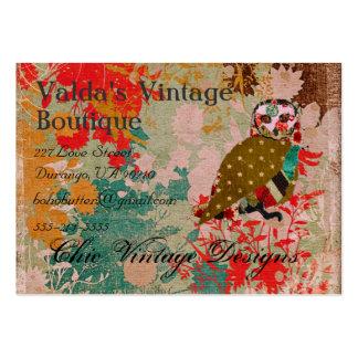 Cartões de visitas cor-de-rosa do vintage de Boho