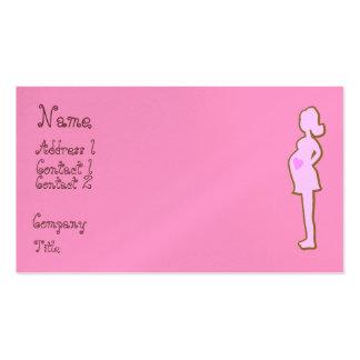 Cartões de visitas cor-de-rosa e marrons da matern