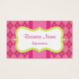 Cartões de visitas cor-de-rosa feitos sob