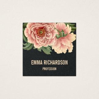 Cartões de visitas cor-de-rosa na moda florais