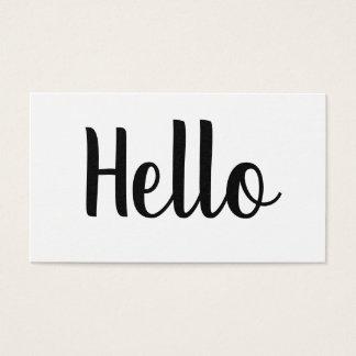 Cartões de visitas corajosos minimalistas