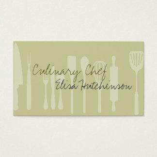 Cartões de visitas culinários do cozinheiro chefe