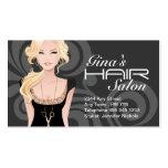 Cartões de visitas customizáveis do cabeleireiro