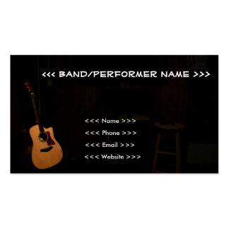 Cartões de visitas customizáveis do músico!