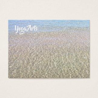 Cartões de visitas da água azul da meditação da