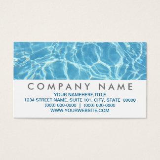 Cartões de visitas da água da piscina