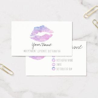 Cartões de visitas da aguarela do Lilac
