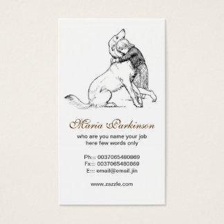 cartões de visitas da amizade do cão de estimação
