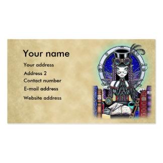 Cartões de visitas da arte do país das fadas do pu