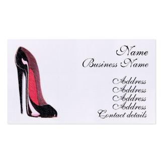 Cartões de visitas da arte dos calçados do