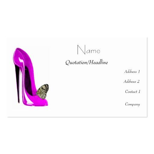 Cartões de visitas da arte dos calçados do estilet