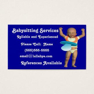Cartões de visitas da baby-sitter