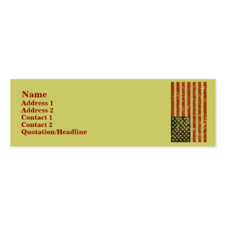 Cartões de visitas da bandeira americana
