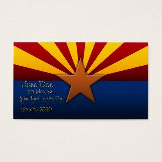 Cartões de visitas da bandeira do estado da