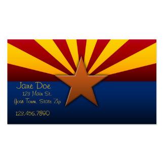 Cartões de visitas da bandeira do estado da arizon
