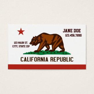 Cartões de visitas da bandeira do estado de