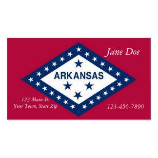 Cartões de visitas da bandeira do estado de Arkans