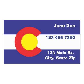 Cartões de visitas da bandeira do estado de Colora