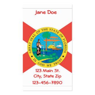 Cartões de visitas da bandeira do estado de Florid