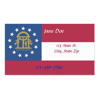 Cartões de visitas da bandeira do estado de Geórgi