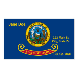 Cartões de visitas da bandeira do estado de Idaho