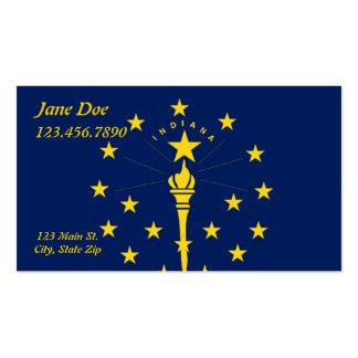 Cartões de visitas da bandeira do estado de Indian