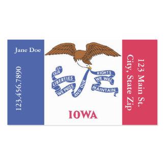 Cartões de visitas da bandeira do estado de Iowa