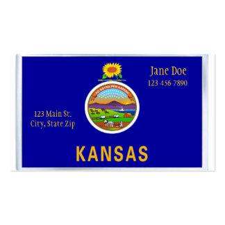 Cartões de visitas da bandeira do estado de Kansas