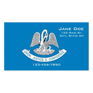Cartões de visitas da bandeira do estado de Louisi
