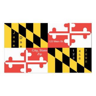 Cartões de visitas da bandeira do estado de Maryla