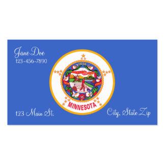 Cartões de visitas da bandeira do estado de Minnes