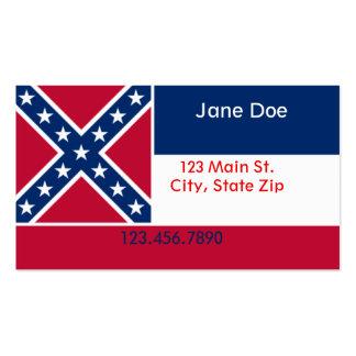 Cartões de visitas da bandeira do estado de Missis