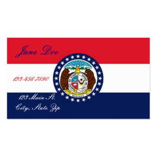 Cartões de visitas da bandeira do estado de Missou