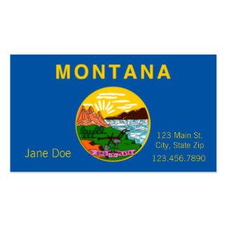 Cartões de visitas da bandeira do estado de Montan